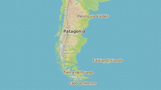 Provincie Santa Cruz, kde paleontologové fosilii objevili, se nachází na samém jihu Argentiny.