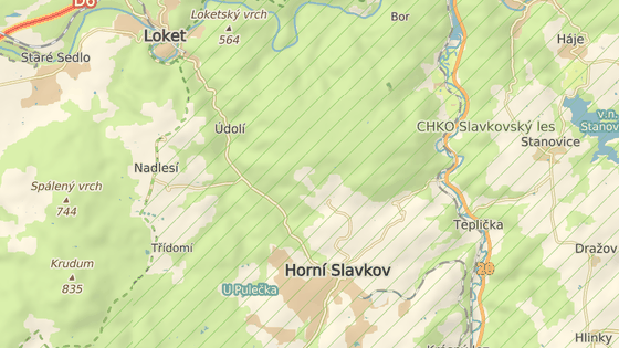 Místo dopravní nehody poblíž Horního Slavkova
