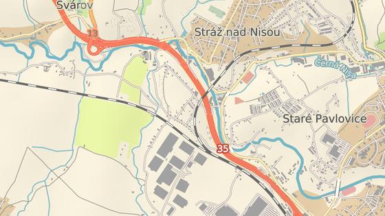 Dodávka se střetla s vlakem na přejezdu v ulici Stříbrný kopec.