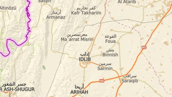 Údajný chemický útok se odehrál nedaleko města Sarákib