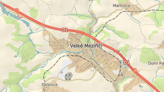 Most Vysočina se klene nad Velkým Meziříčím