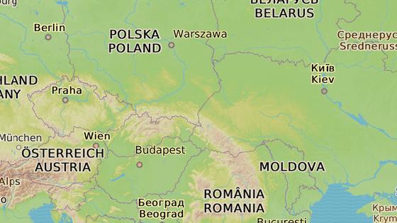 Místo do Kyjeva (zeleně) dojel mladý Ukrajinec ze Zlína (modře) pouze do Kyjova (červeně).