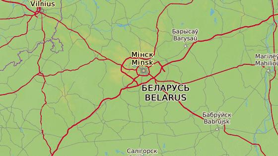 Smaljavičy leží asi 35 kilometrů severovýchodně od Minsku.