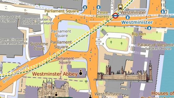 Parliament Square se nachází u Westminsterského paláce