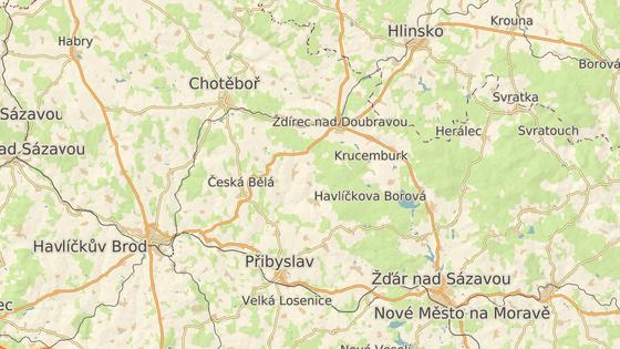 Nová cyklostezka vede podél Chotěbořské ulice na západním okraji Ždírce nad Doubravou.