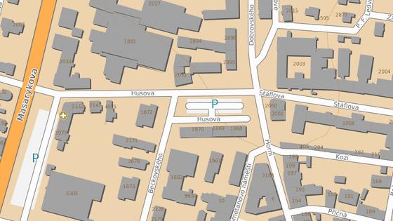 Husova ulice v úseku mezi Horní a Masarykovou ulicí bude do 30. dubna pro dopravu uzavřena.