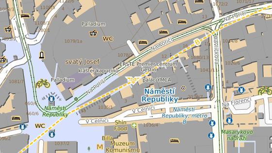Vstup do metra B od Palladia bude od 1. listopadu uzavřen, stanice bude přístupná jen od Masarykova nádraží. Vestibul u Palladia však přes den zůstane v provozu, slouží i jako podchod a přístup k nákupnímu centru.