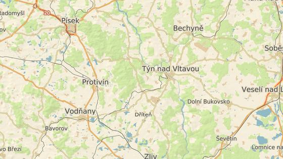 Vodní dílo Kořensko stojí na Vltavě za Týnem.
