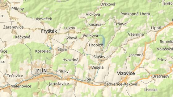 Nehoda se stala mezi obcemi Velíková a Hrobice.