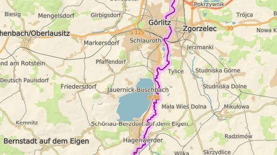 Berzdorfské jezero v Sasku