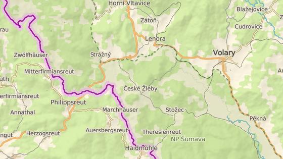 České Žleby na Prachaticku leží nedaleko státní hranice, přes kterou bratři Hasilové převáděli.