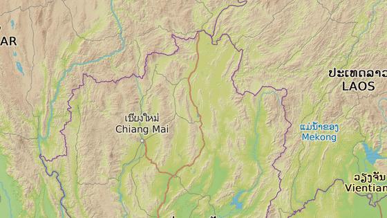 Město Chiang Rai se nachází na severu Thajska.