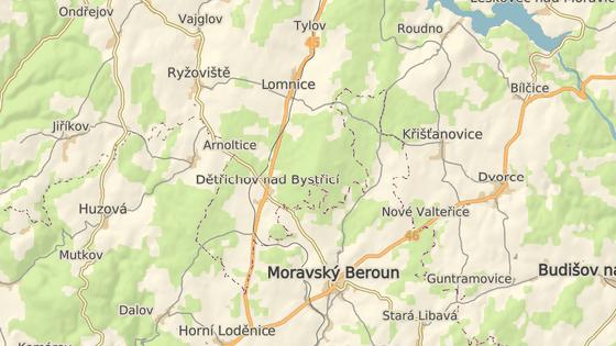 Vlak vykolejil nedaleko Moravského Beroun v Dětřichově nad Bystřicí.