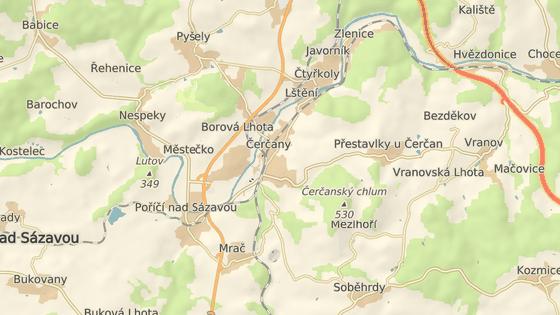 Nehoda se stala poblíž obce Čerčany.