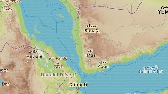 Opuštěný tanker u pobřeží Jemenu