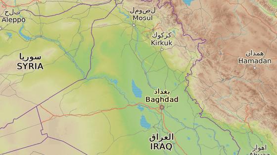 Město Dibis, ve kterém se nachází kurdské kontrolní stanoviště, leží na severozápad od Kirkúku.