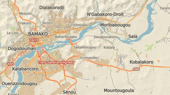 Bamako a hotelový komplex Le Campement Kangaba
