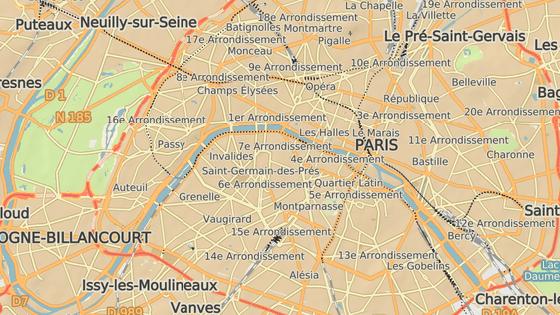 Šestnáctý obvod se nachází na západě Paříže.