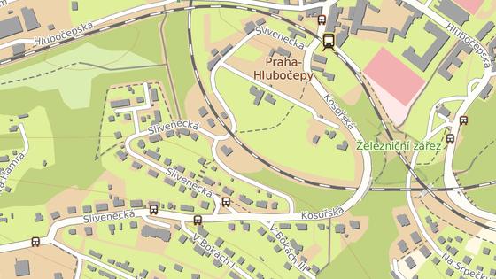 Červená značka ukazuje ulici, kde unikla z domu mamba. Modrá ulici, v níž se našel gumový exemplář.
