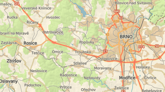 Na 181. kilometru D1 ve směru na Prahu hořel kamion.