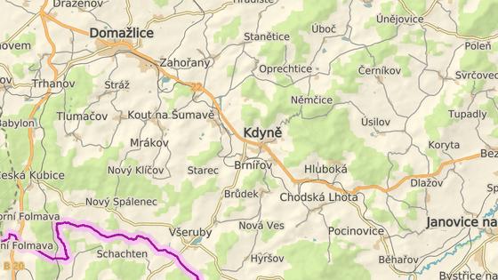 Nehoda se stala mezi Všeruby a Brůdkem nedaleko Kdyně na Domažlicku.