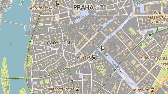 Staroměstská tržnice je v samém centru Prahy, nedaleko Václavského náměstí