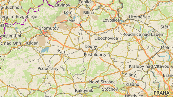 Malé Březno (červená značka), Svinařov (modrá)