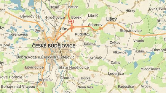 Obchvat povede na východ od Českých Budějovic. Právě zahájený úsek spojí Úsilné a Hodějovice.