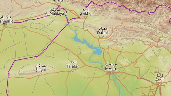 Město Tall Afar, jedna z posledních bašt IS