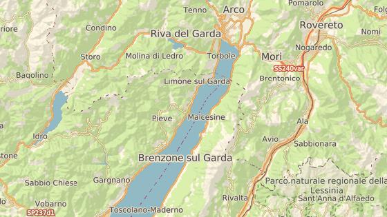 Severní část jezera Garda