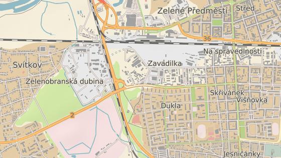 Zastávka Pardubice - Závodiště