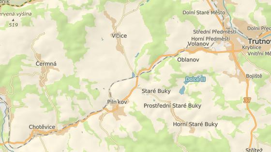 Železniční přejezd na silnici I/16 u Trutnova