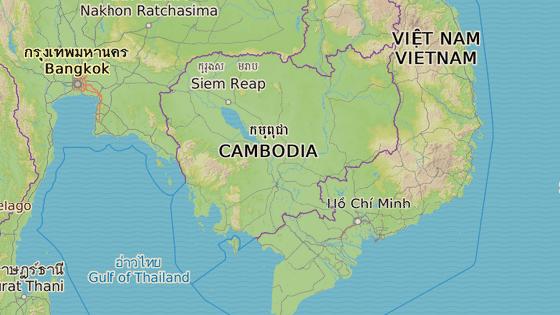 Kambodža leží mezi Thajskem a Vietnamem