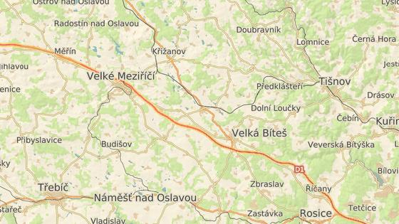 místo nehody na dálnici D1 na 162. kilometru směrem na Brno