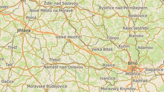 Nehoda se stala na 1056. kilometru u Osové Bitýšky ve směru na Prahu.
