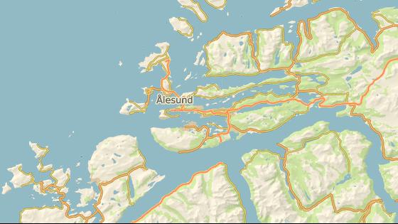 Norský přístav Alesund