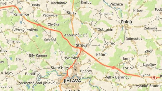 Nehoda se stala na obchvatu Antonínova Dolu, jihlavské místní části.