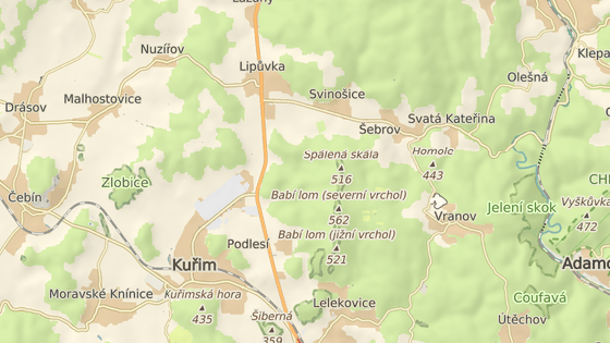 Úsek I/43 mezi Kuřimí a Lipůvkou čeká oprava.