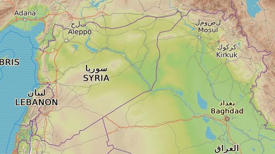 Město Baghúz u syrské hranice s Irákem, poslední država Islámského státu v Sýrii