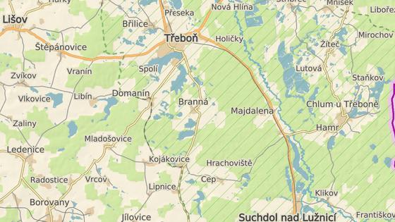 nehoda se stala u výjezdu z obce Branná