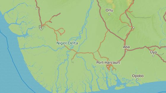 Delta řeky Niger.