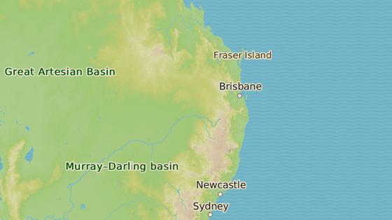 Ostrov Fraser na pobřeží Austrálie, kde k události došlo