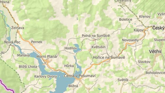 Rybník Olšina leží nedalo Lipenské přehrady.