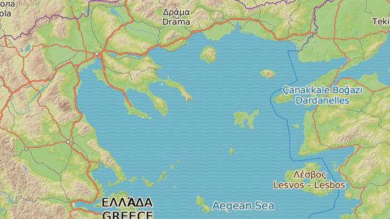 Obec Mesimvria v severovýchodním Řecku