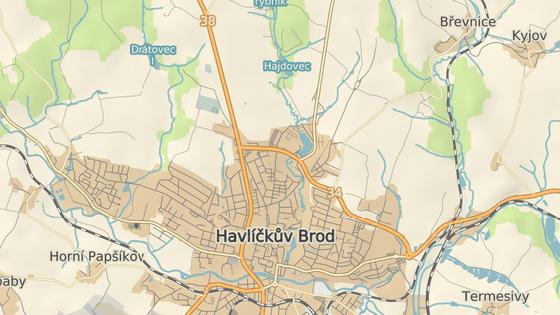 Lokalita Na Nebi se nachází u Reynkovy ulice na severním okraji Havlíčkova Brodu mezi domovem pro seniory a koupalištěm.