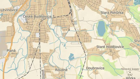 Pozemky se nacházejí na jižním okraji Českých Budějovic.