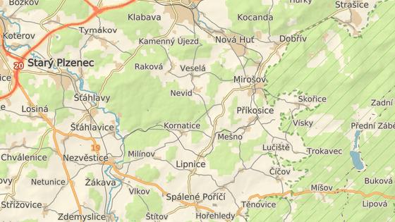 Tragická nehoda se stala mezi Příkosicemi a Štítovem.
