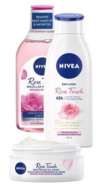 Nivea Rose Touch balíček