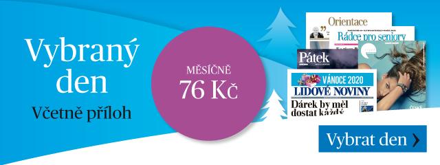 Předplané Lidových novin jako dárek: noviny dle výběru dnů, každý den s jinou tematickou přílohou - cena: 76 Kč měsíčně