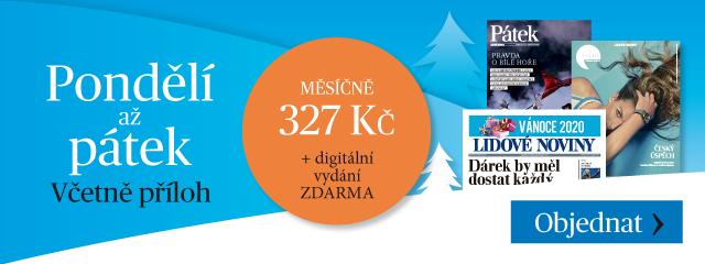 Předplané Lidových novin jako dárek: noviny od pondělí do pátku, každý den s jinou tematickou přílohou - cena: 327 Kč měsíčně
